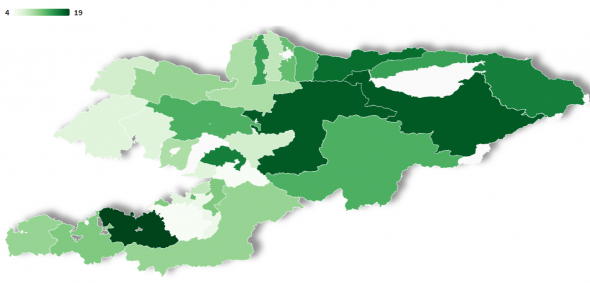 Open election data. Map of candidates in single-mandate constituencies
