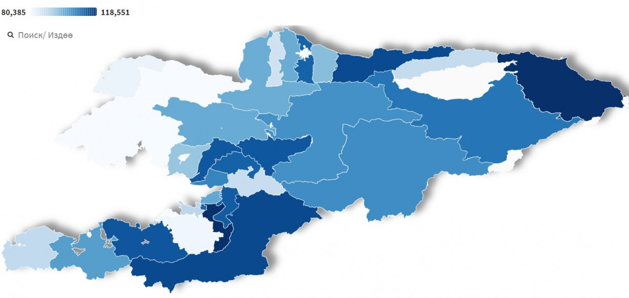 Open election data. Voters map by District